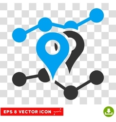 Geo Trends Eps Icon vector image