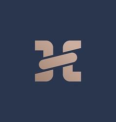 Letter h chain logo icon design template elements vector