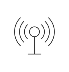 Radio antenna wireless icon vector