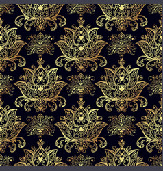 Seamless patterns of russian motives of northern vector