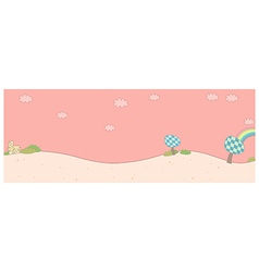 Cute landscape background vector image