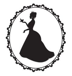 Princess with a bird in a vintage frame vector