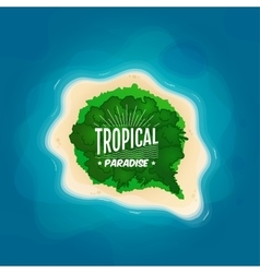 Top view of a tropical island in the ocean vector