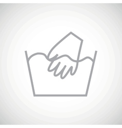 Grey hand wash icon vector