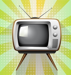 Retro tv on funky background vector