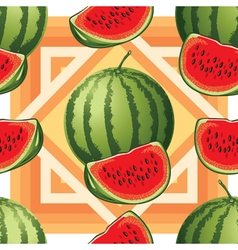 Seamless pattern of ripe watermelon vector