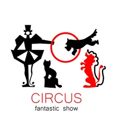 circus show retro logo vector image
