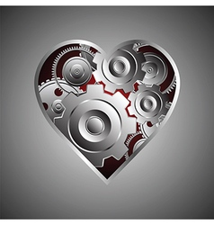141metal heart vector