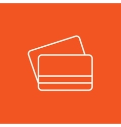 Credit cards line icon vector image