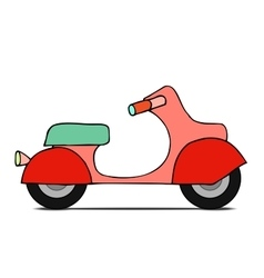 Isolated classic moped vector