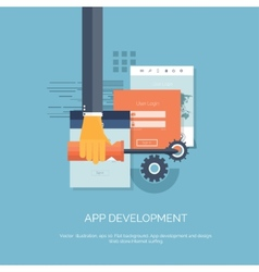 App development flat vector
