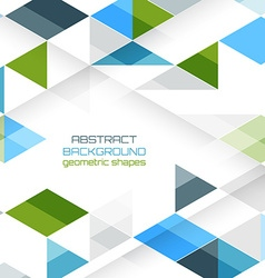 background with geometric shapes vector image vector image