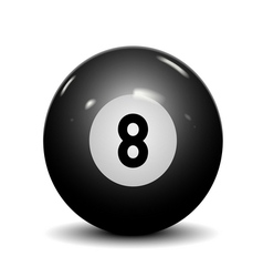 Billiard ball eight vector