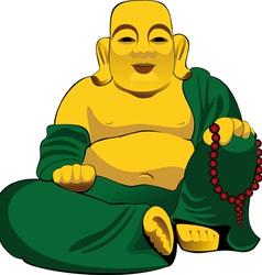 Buddha figurine vector
