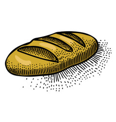cartoon image of bread icon bread symbol vector image