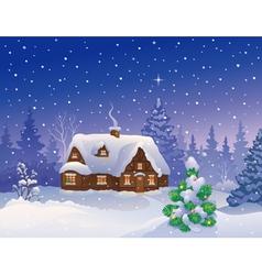 Christmas house vector image vector image
