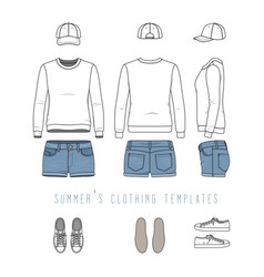 clothing templates set vector image vector image