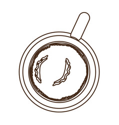 Coffee chocolate skillet icon vector