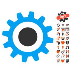 Cogwheel icon with lovely bonus vector