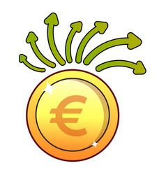 Euro icon flat style vector