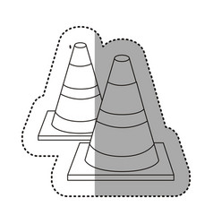 Figure traffic cones icon vector