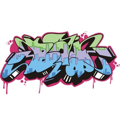 Graffito - boy vector image