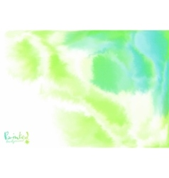 Green and blue background in watercolor flow style vector image