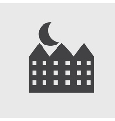 house and moon icon vector image vector image