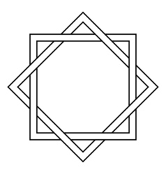 Interlocking square and diamond tattoo vector