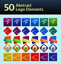 logo elements vector image vector image