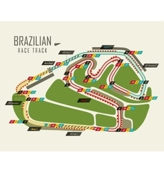 Loop race track of formula one Brazil grand prix vector image vector image