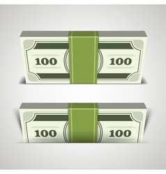 MDollars money in perspective vector image vector image