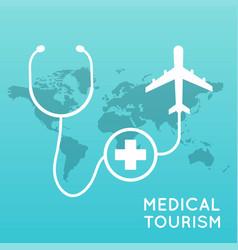 medical tourism flat design modern vector image vector image