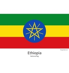 National flag of ethiopia with correct proportions vector