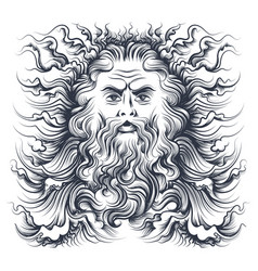 Neptune head vector