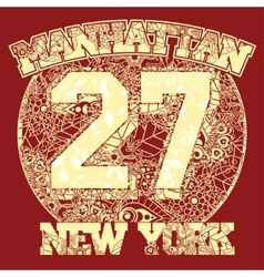 New york t-shirt fashion typography vector
