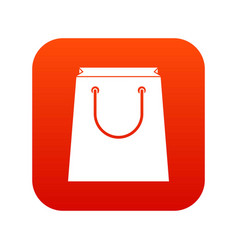 paper shopping bag icon digital red vector image
