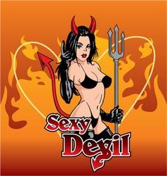 Sexy devil vector