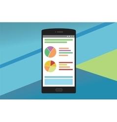smartphone graph vector image