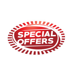 Special offers sign vector