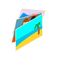 Stack of photos icon isometric 3d style vector image vector image