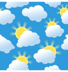 sunshine seamless vector image vector image