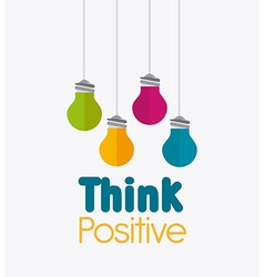 Think positive design vector