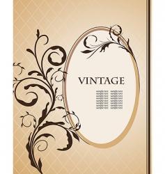 vintage frame vector image vector image