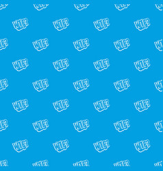 wtf comic book bubble text pattern seamless blue vector image vector image