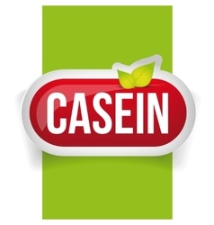 Casein button or pill - fitness supplement vector