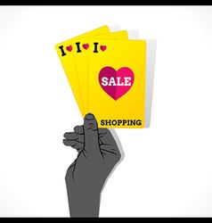 I love shopping sale creative banner design vector