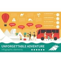 Unforgettable Adventure infographic flat vector image
