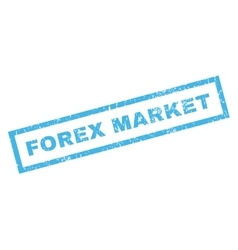 Forex market rubber stamp vector