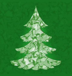 Christmas tree pine tree isolated on vector
